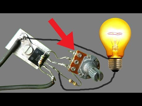 How to regulate 230V AC bulb light with BT136,diy idea