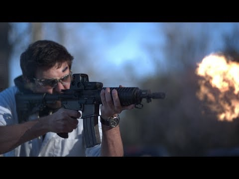 Slow Motion Video of nbsp Automatic Assault Rifle at