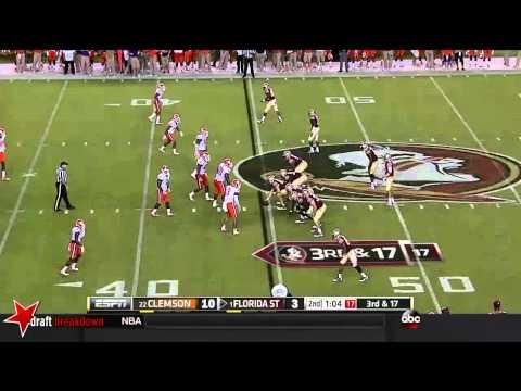 Vic Beasley vs Florida St. 2014 video.