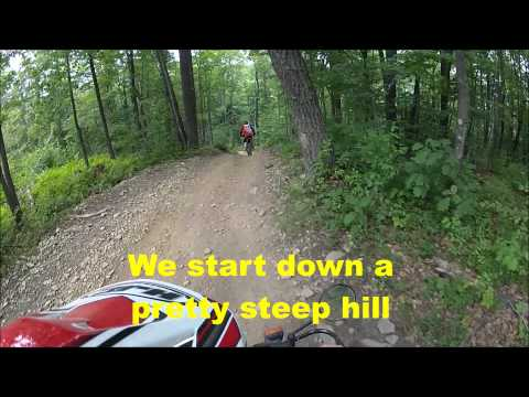 Ride on Shamrock Trail at Mountain Ridge ATV Trails / 2015 KTM 250X & 2009 Honda CRF230L