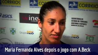 Maria Fernanda Alves analisa estreia no Brasil Tennis Cup