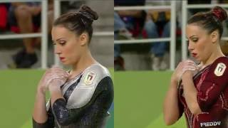 Vanessa Ferrari Floor Exercise Rio 2016 QF/EF Comparison