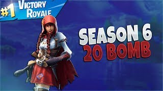 Fortnite Season 6: Solo 20 Kill WIN! - Fortnite Battle Royale Update