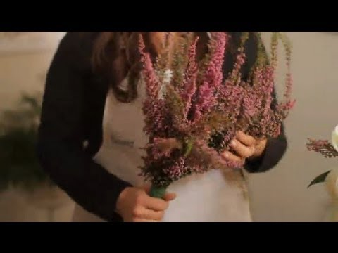 How to Build a Bridal Bouquet With Heather Flowers : Wedding Flowers