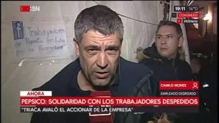 Pepsico: Solidaridad con los trabajadores despedidos