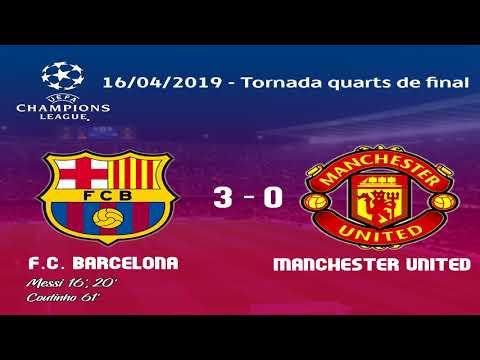 Barça 3 - 0 Manchester United. Tornada quarts de final