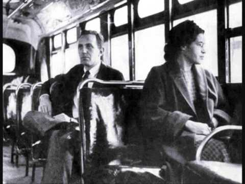 rosa parks - I do not own any rights to the music, pictures, photos or video clips!!!! Sorry that it cuts out at one point!!!
