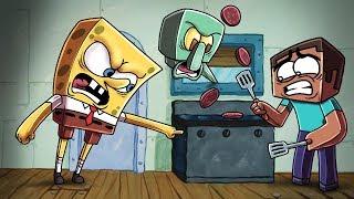 Minecraft | Krusty Krab Challenge - COOKING KRABBY PATTIES! (Spongebob is Fired)