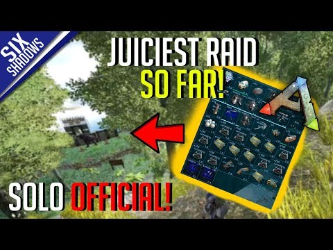 JUICIEST RAID SO FAR! (in solo series)   Solo PvP Official Servers - Ark: Survival Evolved