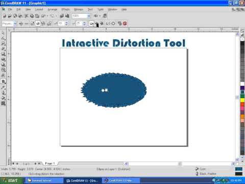 COREL DRAW 11 COMPLETE TUTORIALS IN URDU Intractive Destoration Tool