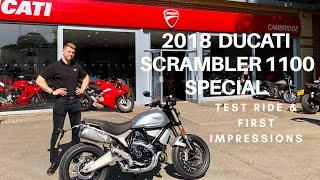 3. 2018 DUCATI SCRAMBLER 1100 SPECIAL, Test ride & first impressions!