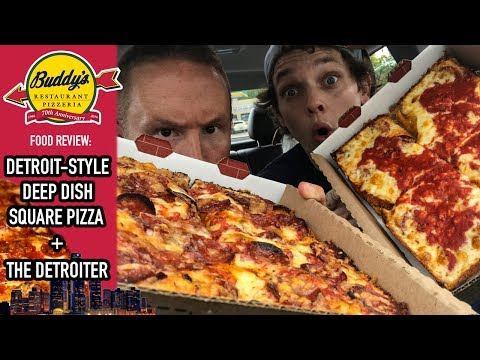 Buddy's Pizza Detroit's #1 Square Pizza Food Review | Series Road Trip to Detroit