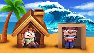 Minecraft | TSUNAMI BASE CHALLENGE - Tsunami Destroys City! (Will it Protect Us?)