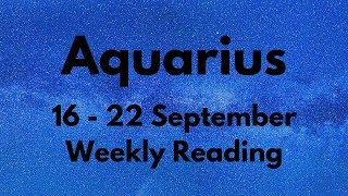 Video AQUARIUS SCARY ACCURATE! YOU WERE RIGHT! SEPTEMBER 16th - 22nd MP3, 3GP, MP4, WEBM, AVI, FLV September 2019