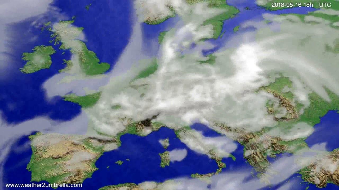 Cloud forecast Europe 2018-05-13