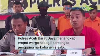 Polres Aceh Barat Daya Amankan 4 Warga Pemakai Sabu