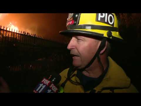 Homes burn as fires rip through Ventura County