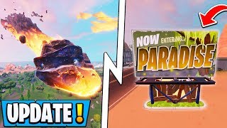 Fortnite Season 10 Map Changes | Season X Meteor, Moisty Mire, OG Factories!