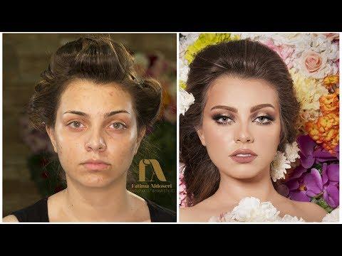 How to do a Bridal makeup with glitter مكياج عروس مع لمعه بانامل فاطمة الدوسري (видео)