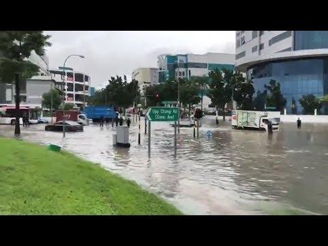 العرب اليوم - الأمطار الغزيرة تغرق شرق سنغافورة