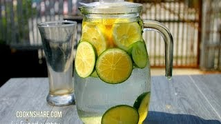 Detox, Infused Water - Lemon, Lime, and Cucumber (Episode 1) - YouTube