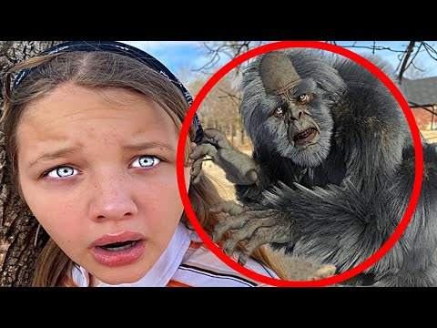 YETI in my YARD PART 3!! Aubrey & Caleb Search for Abominable Snowman!
