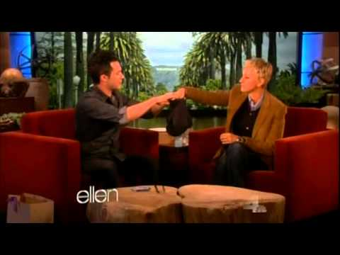 Magician - Justin Willman performs magic on The Ellen Show. Featuring a dollar bill trick and a cupcake card trick. Segment one of two.