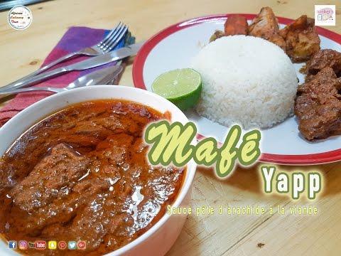 Mafé Yapp (sauce pâte d'arachide à la viande)