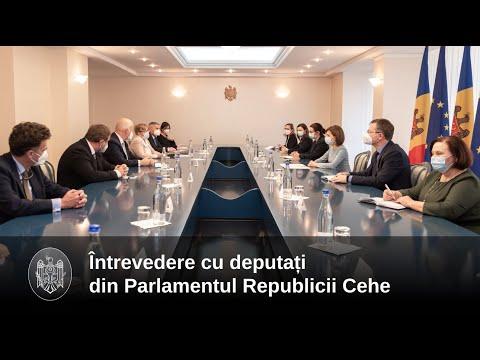 Președintele Maia Sandu a discutat cu un grup de Senatori din Republica Cehă
