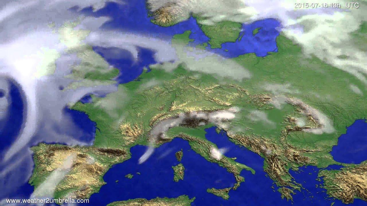 Cloud forecast Europe 2015-07-14