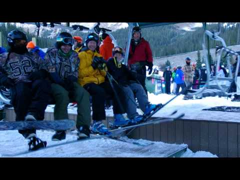 A-Basin first chair, opening day - ©Arapahoe Basin Ski Area