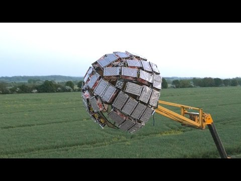 British Inventor Creates Huge Firework Deathstar