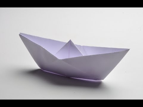 How To Fold A Paper Boat. (Full HD)