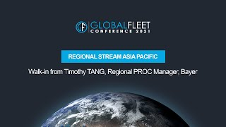 Walk-in from Timothy TANG, Regional PROC Manager, Bayer