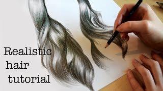 Video Emily's Tutorials: How to draw realistic hair! MP3, 3GP, MP4, WEBM, AVI, FLV Desember 2018