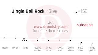 Glee - Jingle Bell Rock Drum Score