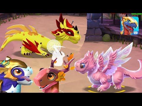 Дракон Чаровница и Красный Коготь. Качаю Факела и Осень на 45!! Легенды Дракономании (видео)