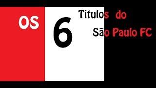 Todos os títulos brasileiros do São Paulo FC. 1977-1986-1991-2006-2007-2008. Um time com os melhores jogadores, São Paulo FC.