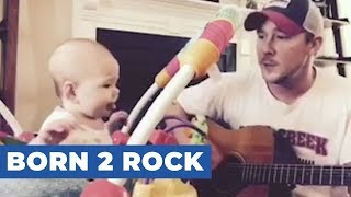 Baby Jams Along to Dad's ABC's