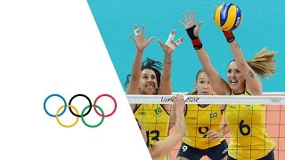 Volleyball Women's Preliminary - Pool B - USA V BRA - Replay -- London 2012 Olympic Games