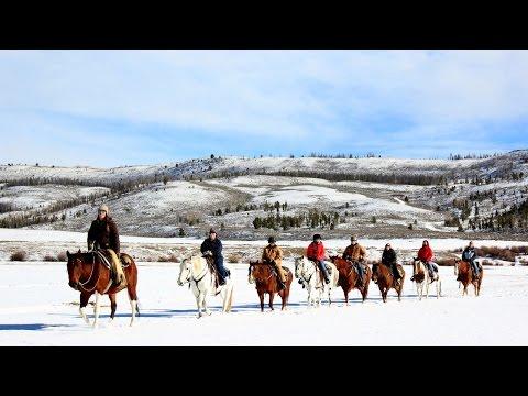 Winter Horseback Riding at C Lazy U Ranch