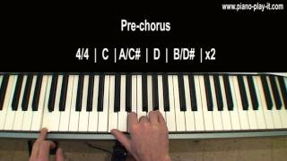 Hurt Christina Aguilera Piano Tutorial (How to play Hurt on Piano)