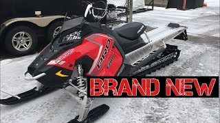 3. Brand new 2018 Polaris Pro RMK 800 walk around + startup