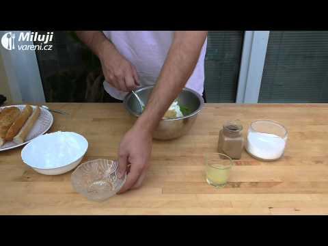 Česneková bageta s hráškovým dipem