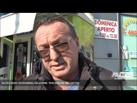 24/01/2020 | ECOVANDALI IN AZIONE, ''DISCARICHE'' NEI CESTINI