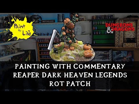 How to paint a Reaper Dark Heaven Legends Rot Patch with step by step commentary