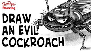 Learn how award-winning illustrator, Shoo Rayner, draws an evil cockroach with pen and ink and a single colour grey watercolour wash to add tone. A great style for black and white illustrated books.You can get a hi-res copy of this image here https://www.patreon.com/posts/11713262After last week's Scaredy Cats story video - The Killer Catflap - I thought I'd draw an evil cockroach this week. see the video here https://youtu.be/t0Y8W93p1JQMore details about the Scaredy Cats book can be found here http://www.shoorayner.com/shoos-books/scaredycats/ and you can get the books from Amazon here in the UK http://amzn.to/2rVaCXVand here in the US http://amzn.to/2sYlqViIt's different to the way I drew the roaches in the book and video, mainly because I've been a bit more attentive to the true shape and design of a cockroach. Not too attentive though! This is really about characterisation - turning an animal or inanimate object into a humanised character.You can support my videos on Patreon ➡️ http://bit.ly/ShooPatreonPageSubscribe for lots more drawing :) ➡️ http://bit.ly/Sub2ShooEveryone asks about the tools I use when I'm out using my sketchbook. here's a video to show you what and how I use them. https://youtu.be/QJwjV1FKdygThe Pentel Aquash Brush is here in the Uk http://bit.ly/PentelAquabrushUKand here in the US   http://bit.ly/PentelAquashBrushUSARotring Tikky Graphic in the UK here http://bit.ly/TikkyGraphicUKin the USA http://bit.ly/TikkyGraphicUSThe Cotman sketching watercolour set is here in the UK http://amzn.to/1gNpZ8sand in the US here: http://amzn.to/1gaG6qAThe Seawhite of Brighton a5 travel journal is here in the Uk http://bit.ly/SeawhiteJournalUK and here in the USA http://bit.ly/SeawhiteA5JournalUSATwitter http://twitter.com/shooraynerGoogle+ https://plus.google.com/u/0/117947137150973770218Facebook http://www.facebook.com/profile.php?id=750207845Website http://www.shooraynerdrawing.commusic by http://www.youtube.com/cleffernotesShoo Rayner is an award-winnin