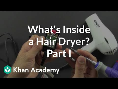 what is inside a hair dryer? (1 of 2) (video) khan academyConair Hair Dryer Wiring Diagram #19