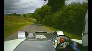 NIc Mann demonstrates his skill in driving up Gurston Down hillclimb a narrow track at incredible speed. Nic Also took 10 years to build this amazing racing car. Awesome Power!