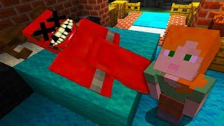 ALEX AND SATAN MINECRAFT - STEVE'S ALEX KILLS SATAN RIP... •